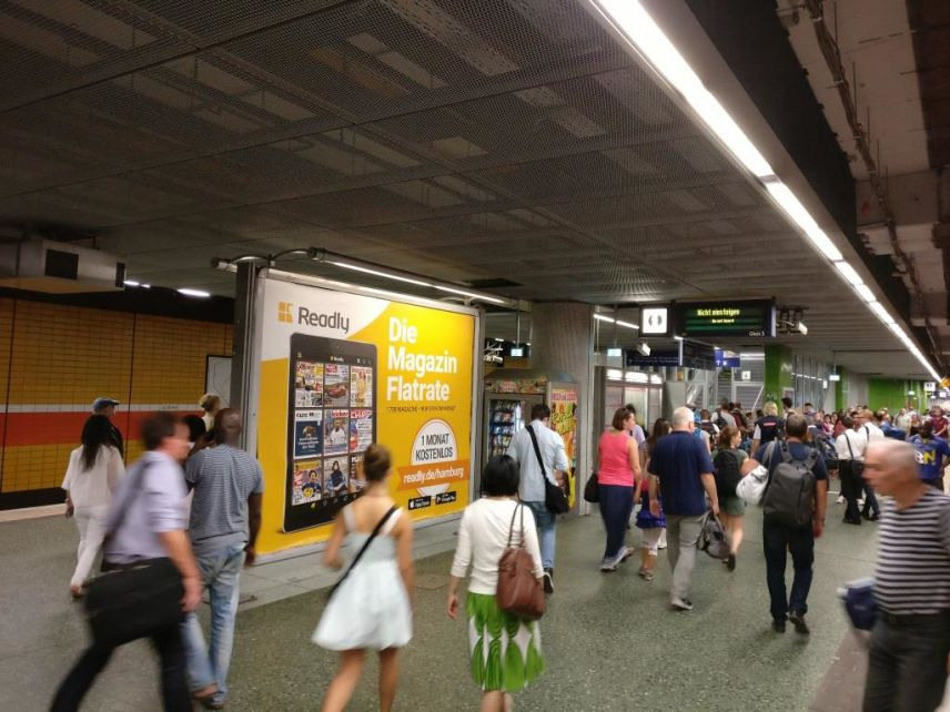 Magazin-Flatrate Readly startet erste Out-of-Home Kampagne in Hamburg